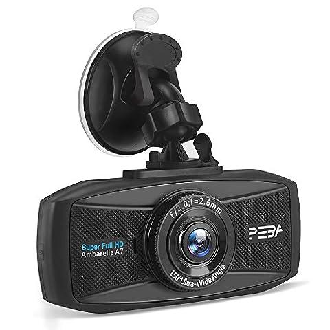 Dash Cam for Cars PEBA Super HD 1296P Dashboard Camera Car DVR Vehicle Video Recorder with 2.7-Inch LCD, G-Sensor, Loop Recording, Super Night - 32 Class Lcd