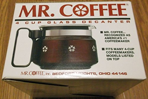 Mr Coffee D4 4 cup coffee replacement carafe BLACK