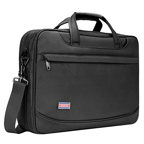 - Laptop Briefcase, 15.6 inch Laptop Bags, Business Office Bag for Men, Stylish Nylon Multi-functional Organizer Messenger Bags for Women Fit for 15.6 inch Notebook Macbook Tablet - Black