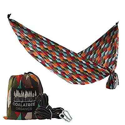 Coalatree Grandview Packable Hammock - Best Lightweight Nylon Parachute Camping Hammock Gear for Backpacking Survival Beach Yard or Travel: Sports & Outdoors