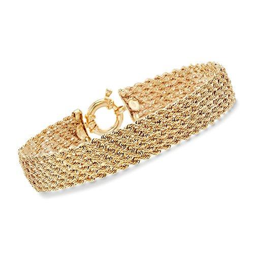 Bracelet Rope Fancy (Ross-Simons Italian 14kt Yellow Gold Multi-Rope Bracelet)