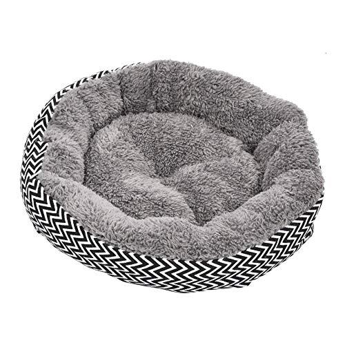 Freedomanoth Haustier Plüsch Nest Plüsch-Haustierbett Donut-Kuschelbett Haustier-beruhigendes Bett-rundes Nest Lindert…