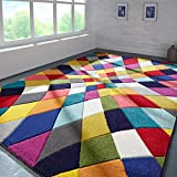 Flair Rugs Spectrum Rhumba Hand Carved Rug, Multi, 160 x 230 Cm