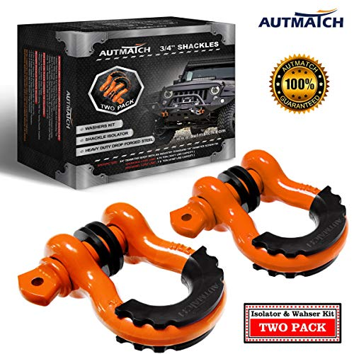 "AUTMATCH Shackles 3/4"" D Ring Shackle (2 Pack) 41,887Ib for sale  Delivered anywhere in USA"