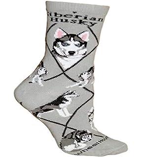 Siberian Cat Heart Paws Pattern #2 Men-Women Adult Ankle Socks Novelty Socks
