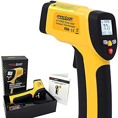 Temperature Gun by ennoLogic - Accurate High Temperature Dual Laser Infrared Thermometer -58°F to 1922°F - Digital Surface IR Thermometer eT1050D