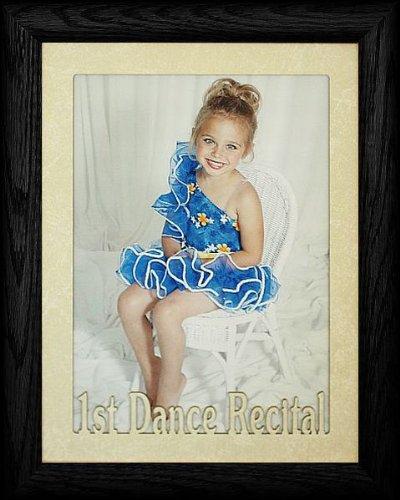 5x7 JUMBO ~ 1st DANCE RECITAL Portrait Picture Frame ~ Laser Cream Marble Matboard (BLACK)