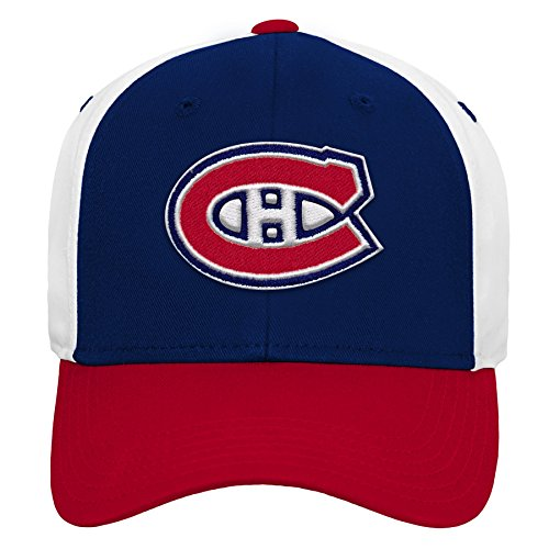 Outerstuff NHL NHL Montreal Canadiens Youth Boys Colorblock Structured Adjustable Hat, True Navy, Youth One Size