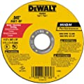 DeWalt DW8062 4-1/2-Inch Diameter by .045-Inch Thick Metal Cutting Abrasive Wheel with 7/8-Inch Arbor from DEWALT