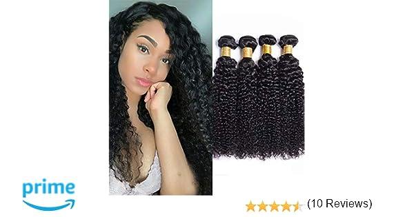Maxine 9A Malaysian Kinky Curly Human Hair 3 Bundles Kinky Curly ...