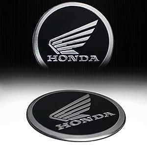 "Metal 2.125"" 3D Honda Brushed Aluminum Emblem Sticker Logo Fairing / Fender Badge"