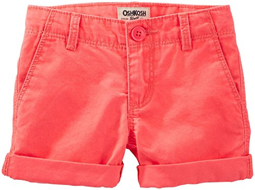 OshKosh B'Gosh Girls' Woven Short 21040416, Orange, ()