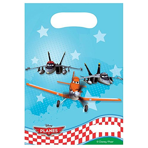 6 Disney Planes the Movie Birthday Party Plastic Loot Treat Favor Bags - Favor Party Disney Brave