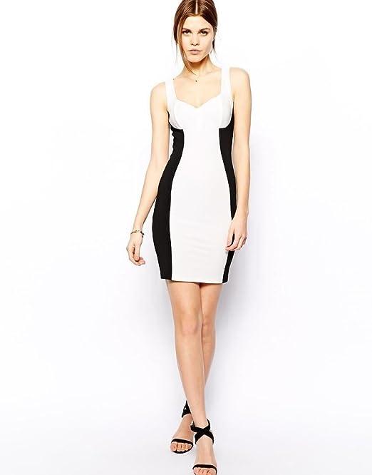 COLOR * * ASOS Panel Rib Bodycon vestido Blanco blanco