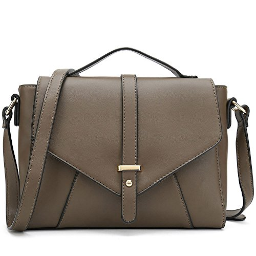 es Cross Body Handbags Trendy Bags for Women Shoulder Bags (Coffee) (Patchwork Shoulder Tote)