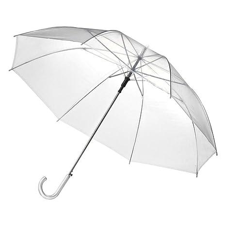 Xiangze Cúpula transparente paraguas dama mujer boda Uso de lluvia Sombrilla Paraguas (Transparente)