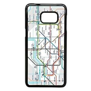 Samsung Galaxy Note 5 Edge Phone Case Black London Tube Map NLG7832140