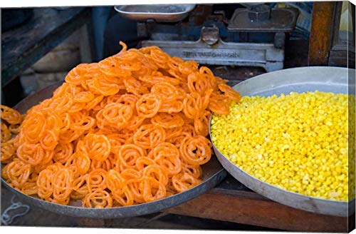 - Market Food in Shahpura, Rajasthan, Near Jodhpur, India by Bill Bachmann/Danita Delimont Canvas Art Wall Picture, Gallery Wrap, 37 x 24 inches