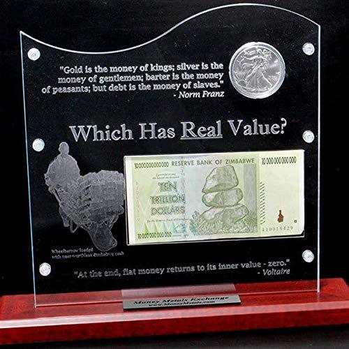 Silver Versus Zimbabwe Dollar Display by Money Metals Exchange