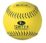 Markwort Lite Weight and Weighted Leather Softball, Optic Yellow, 9-Ounce