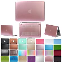"""Coosbo - Fashion Matte Patterns Hard Case Cover for 13"""" 13.3"""" Apple Mac 2016 NEW Macbook Pro Accessories Gift ((Model:A1706 or A1708 on the bottom of laptop), Metallics-Pink)"""