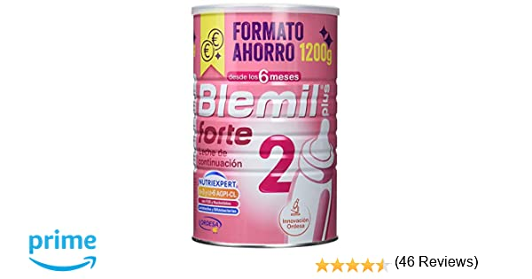 Blemil Plus Forte 2, Leche de continuación para bebé - 1200 gr.: Amazon.es: Alimentación y bebidas