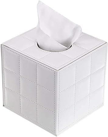 HXJX Soporte para Caja de pañuelos de Cuero de la PU, dispensador de servilletas Cuadrado, dispensador de Cajas de Papel de Bombeo, Soporte para pañuelos faciales con Fondo magnético para: Amazon.es: Hogar