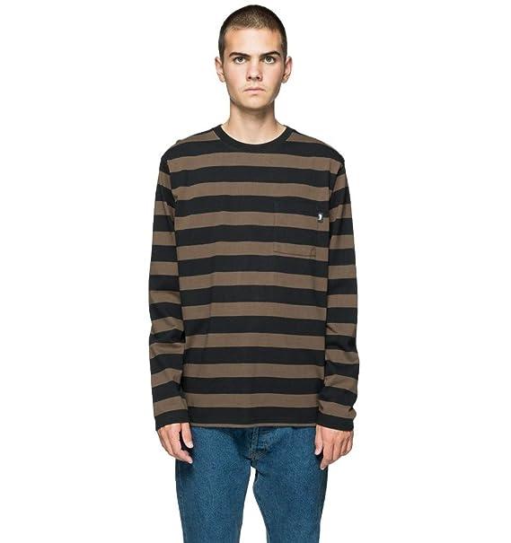b83557d8b7 Stussy Malcom Stripe Long Sleeved Crewneck Black Medium: Amazon.co.uk:  Clothing