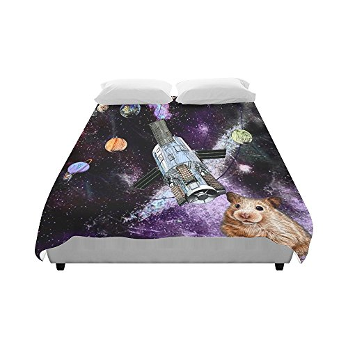 Artsadd Animal Marmots in Space Galaxy Solar System Duvet Cover Case Quilt Cover 86''x70'' by Artsadd