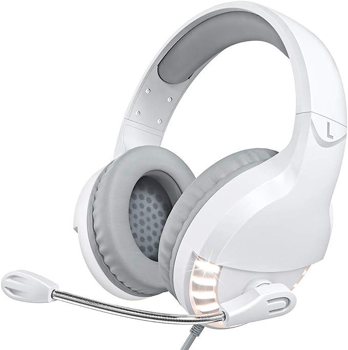 ordinateurs portables VersionTech Casque de gaming PS4 3,5 mm PC LED /éclairage basse casque st/ér/éo casque avec microphone pour Xbox One Mac tablette et smartphone Camouflage