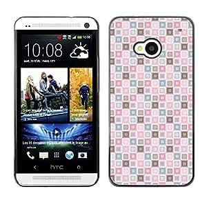 ZECASE Funda Carcasa Tapa Case Cover Para HTC One M7 No.0000608