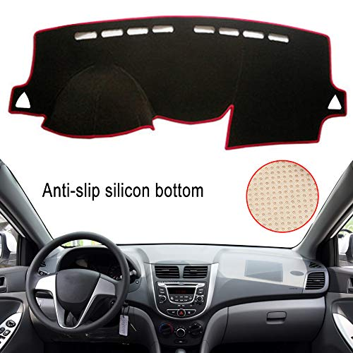 Clidr Dashboard Cover for Hyundai Accent 2012 2013 2014 2015 2016 2017 Dash Cover Mat