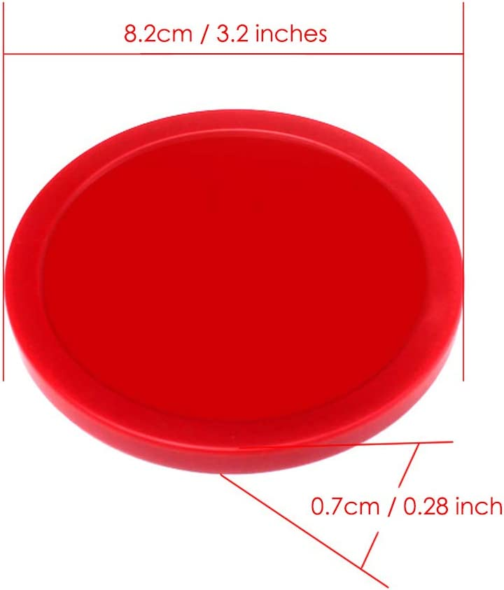 DISTINCTIVE STYLE Air Hockey Pucks 6 Pieces 3.2 Inches Replacement Pucks Air Hockey Accessories for Air Hockey Tables DS