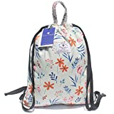 Drawstring Bag Original Tote Bags for Travel Gym Hiking School Beach (Upgrade) (LEAF FLOWER 8)