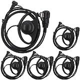 AOER D Shape Earpiece Headset PTT for Motorola Talkabout COBRA Two Way Radio Walkie Talkie 1pin(5 pack)