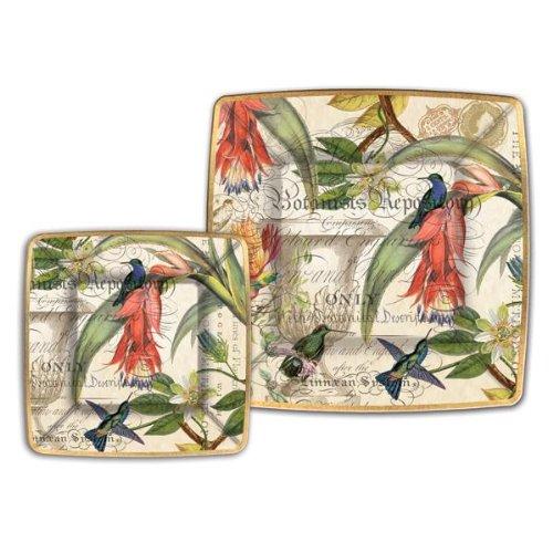 Floral Design Dinner Plate (Michel Design Works 8 Count Dinner Paper Plates, Enchanted Garden)