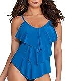 Magicsuit Solids Rita Tankini Top DD-Cups, 8DD, Ocean Blue