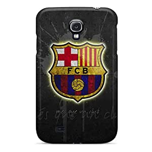 Shockproof Hard Phone Covers For Samsung Galaxy S4 (pZT20141mUdk) Unique Design Nice Fc Barcelona Skin