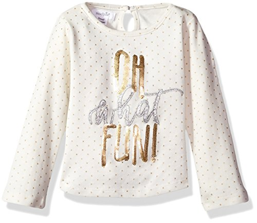 Mud Pie Baby Toddler Girls' Christmas Holiday Long Sleeve T-Shirt, Oh What Fun, SM/12-24 Mos