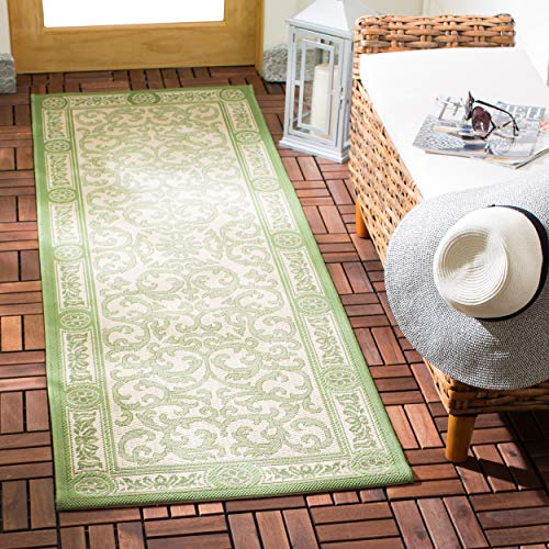 Safavieh Courtyard Collection CY2829-1E01 Natural and Olive Indoor/ Outdoor Area Rug (2' x 3'7