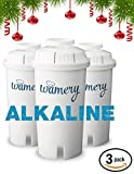 water filter pitcher reviews Water Filter Replacement 3-Pack. Fits Wamery and Brita Pitcher. Ionizer and Purifier Cartridge system. NSF ANSI Certified. Reduce Chloride, hard metals from kitchen faucet. (ALKALINE: Ceramic)