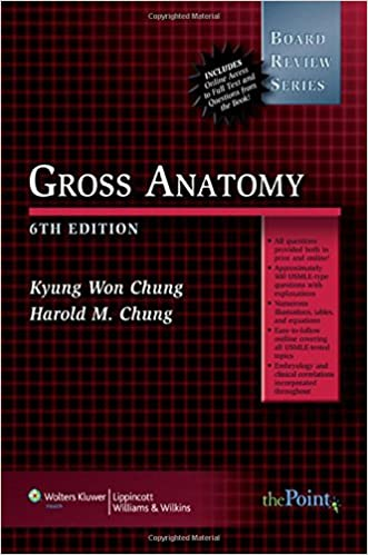 Brs Gross Anatomy Board Review Series 9780781771740 Medicine