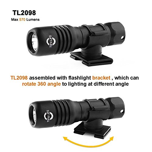 Liao Shan life 150M Mini Diving Mask Light Scuba Back-up Torch Attach On Mask Use Aa or 14650 Battery 570lumens Adjustable 360 Angle Holder (Black) (Torch+bracket) by liaoshan life (Image #5)