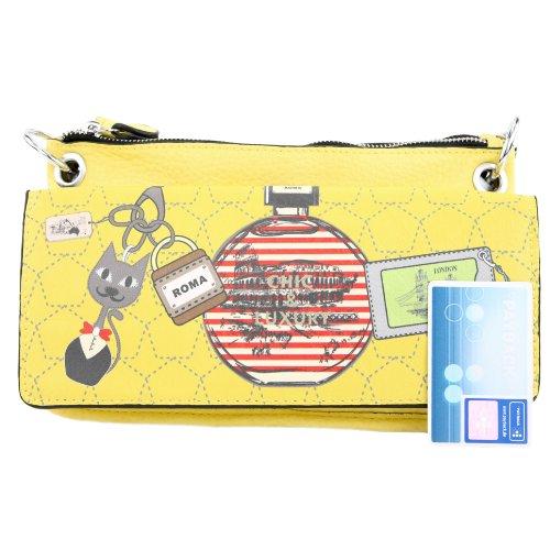 Handtasche Damentasche Tasche Umhängetasche Damen Kunstleder Lederimitat LK138065 Gelb