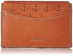 Fossil Mason Card Holder, Saddle