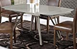 Global Furniture Dining Table, Champagne Shiny/Matte
