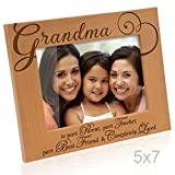Kate Posh - Grandma Picture Frame - Engraved Natural Wood Photo Frame - Mother's Day Gifts - Gifts for Grandmother - Grandma gifts - I love you Grandma Picture Frame - (5x7-Horizontal)