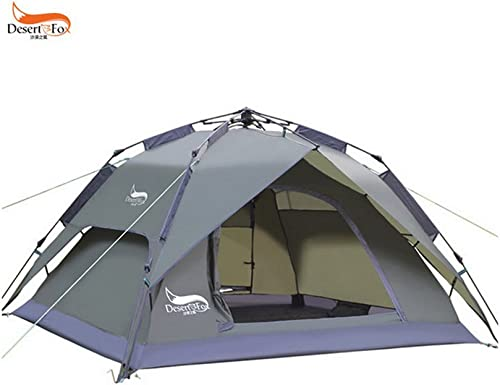 3-4 Persons Waterproof Family Party Tent 3-1 Use Double Camping Tent with Rain Proof Easy to Set up Lightweight Portable Tent Perfect for Camping Picnic Beach Holiday