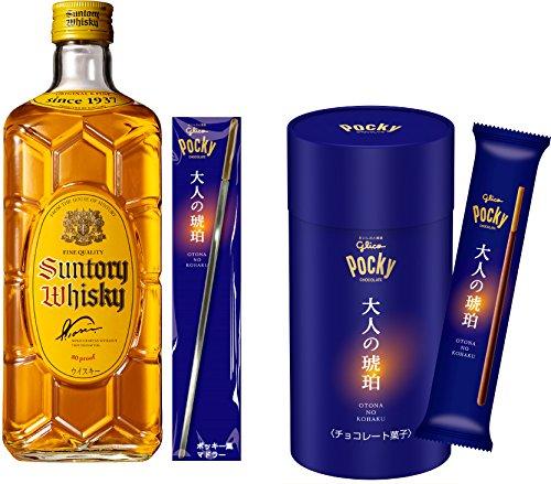サントリー ウイスキー 角瓶 700ml ×ウイスキーに合うポッキー <大人の琥珀> マドラー付オリジナルセット