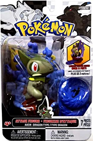 Pokemon Attack Figure B&W Series #2 Axew - Dragon-type base - Pokemon Attack Action Bases